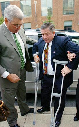 mariano on crutches