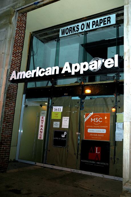 american apparel on walnut st