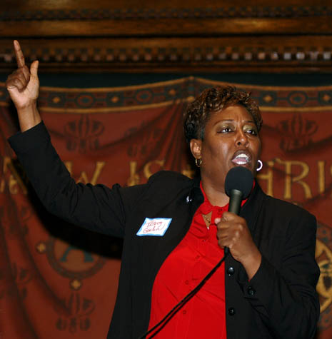 tracey  gordon of the african american coalition