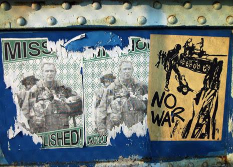 south st bridge graffiti, anti war/anti bush